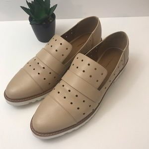 14th & Union Nude Leather Loafer Size 11